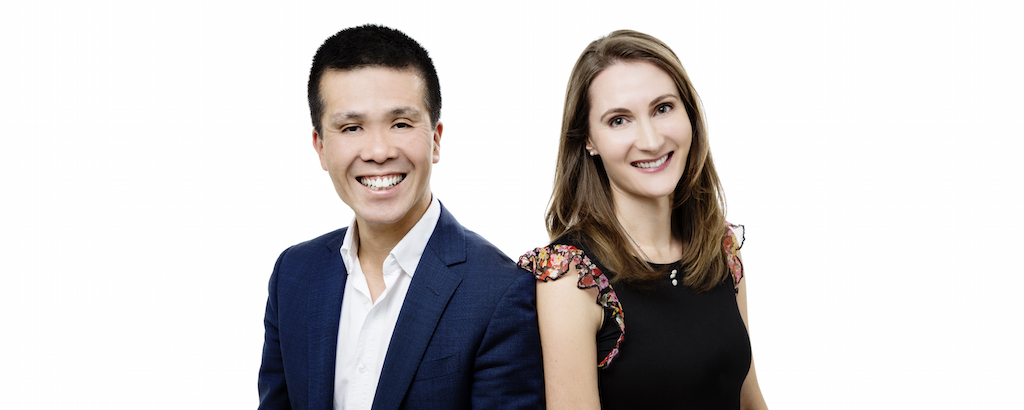 Dr Jennifer Leung and Dr Bernard Leung back to back image